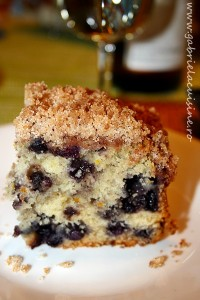 Blueberry buckle/ Chec pufos cu afine
