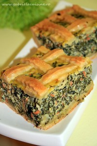 Placinta cu spanac si aluat de casa/ Spinach pie with home made dough