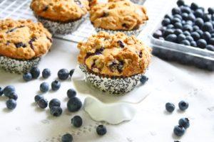 Muffins cu afine/Blueberry muffins