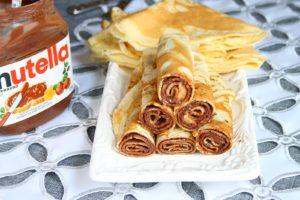 Crepes/ Clatite cu Nutella
