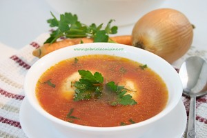 Supa de rosii cu galusti/Tomato soup with dumplings