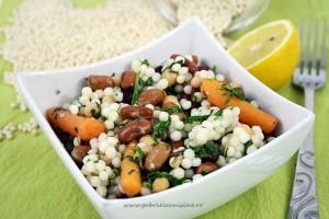 Salata de fasole boabe si cus cus/ Beans salad with cus cus
