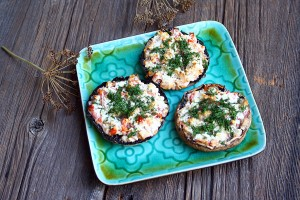 Ciuperci umplute/ Stuffed mushrooms